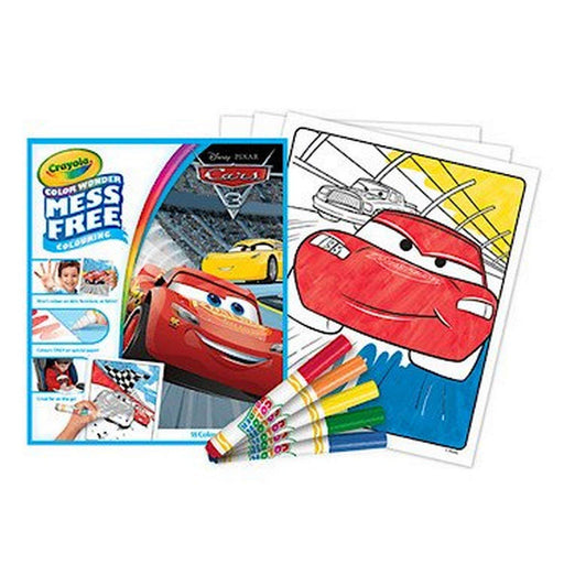 Crayola Color Wonder Disney Pixar Cars 3 Mess Free Colouring Book & 5 Pens