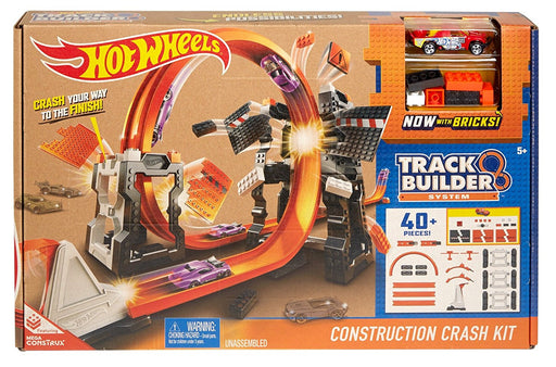 Hot Wheels Track Builder System Construction Crash Kit Starter Children Playset