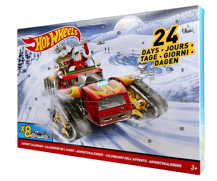Hot Wheels 24 Day Christmas Advent Calendar With 8 Vehicles & 16 Accessories