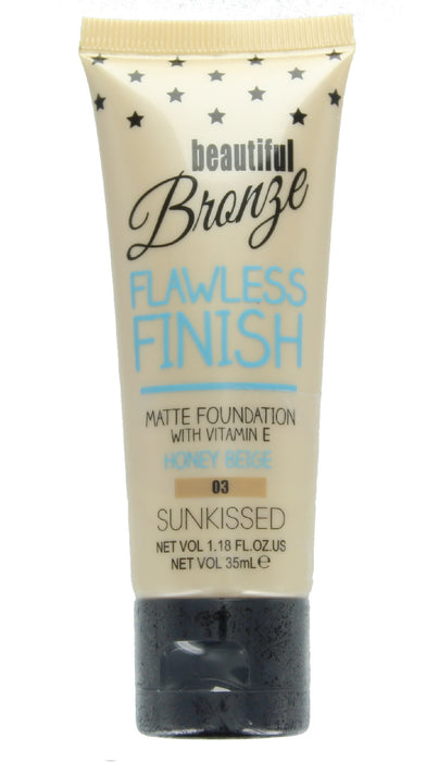Sunkissed Beautiful Bronze Flawless Finish Matte Foundation 35ml-03 Honey Beige