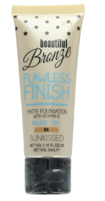 Sunkissed Beautiful Bronze Flawless Finish Matte Foundation 35ml-04 Bronze Tint