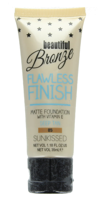 Sunkissed Beautiful Bronze Flawless Finish Matte Foundation 35ml-05 Deep Tan