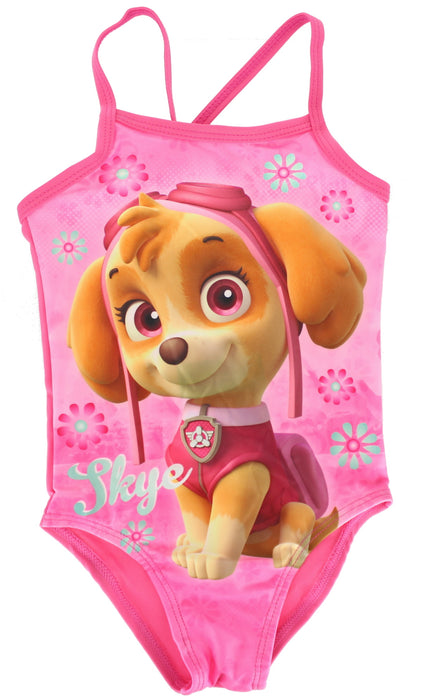 Paw Patrol Skye Girls Pink One Piece Swimming Costume -18-24 Months