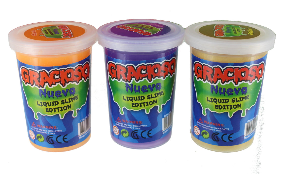 Liquid Slime Putty Coloured Children's Sensory Activity Play Stress Toy Set of 3