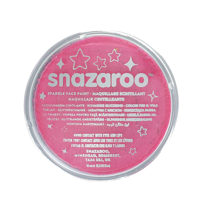 Snazaroo Professional Water Based Sparkle Face & Body Paint Compact 18ml-Pink