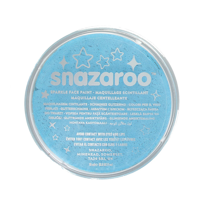 Snazaroo Professional Water Based Sparkle Face & Body Paint Compact 18ml-Turquoise
