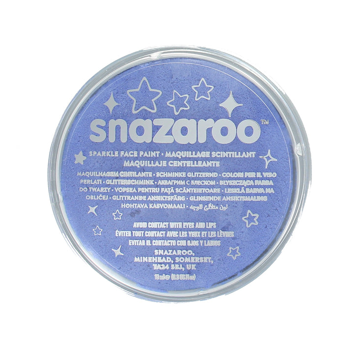 Snazaroo Professional Water Based Sparkle Face & Body Paint Compact 18ml-Blue