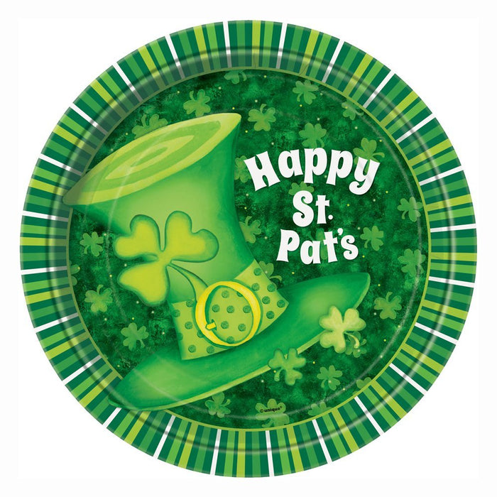St Patrick�s Day Shamrock Green 8 Paper Cups, 8 Paper Plates & 16 Napkins Party Tableware Accessories