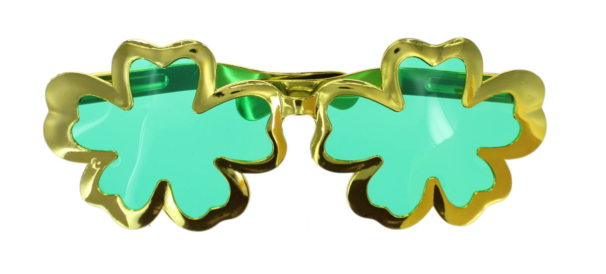 St Patrick's Day Green Clover Glitter Head Boppers & Giant Glasses Fancy Dress Accessories