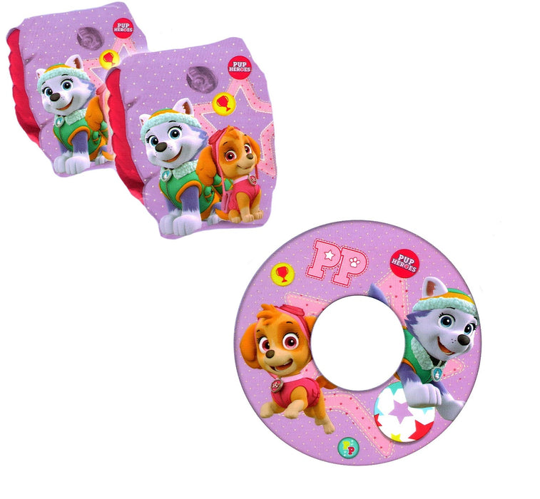 Paw Patrol Skye & Everest Inflatable Swim Ring & Swimming Armbands 3+