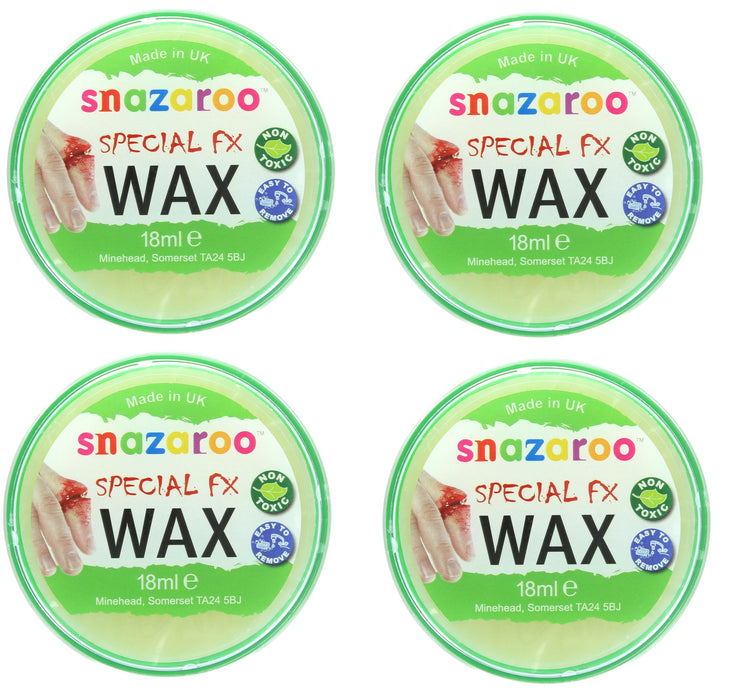 Snazaroo Special FX Wax Make Up Effects For Halloween 18ml-4 Pack