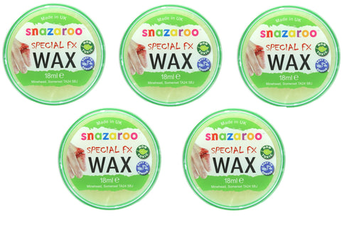 Snazaroo Special FX Wax Make Up Effects For Halloween 18ml-5 Pack