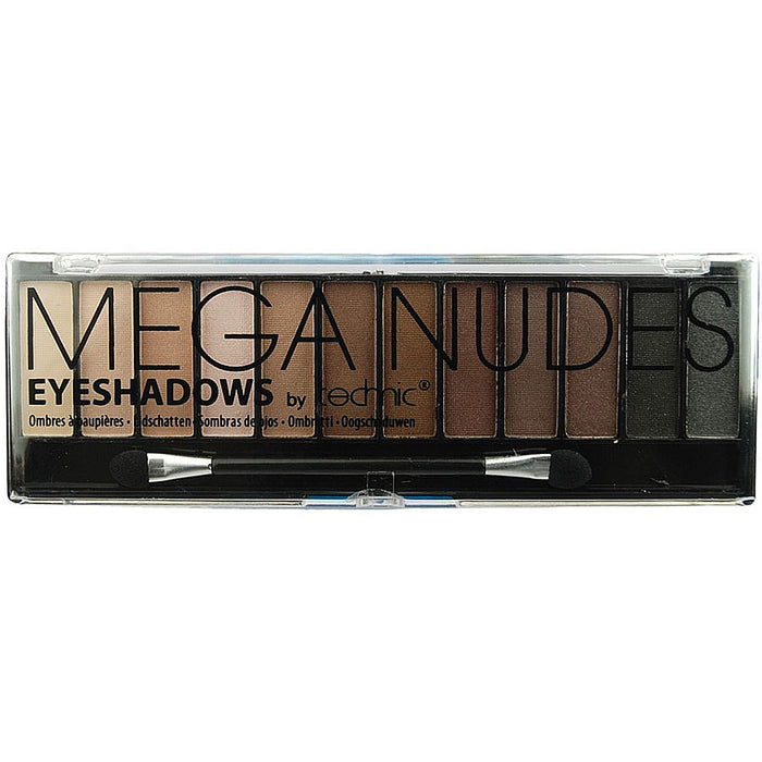 Technic Mega Nudes 12 Colour Eyeshadow Eye Shadow Palette Makeup Kit Set Make Up