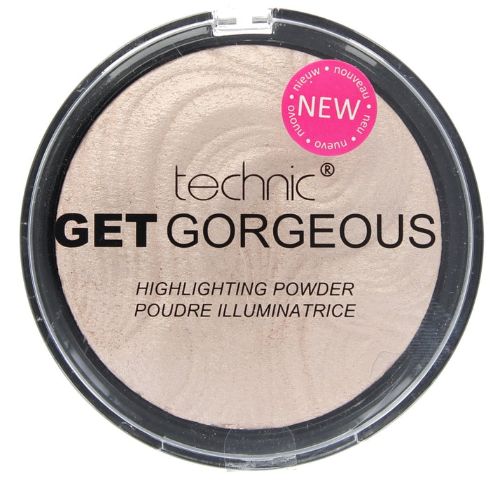Technic Get Gorgeous Highlighting Original and 24CT Gold Highlighter Face Powder