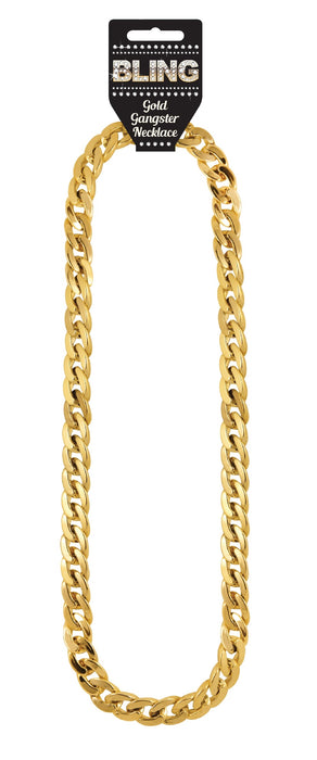 Adult Gold Gangster/Rapper Chain Necklace 81cm
