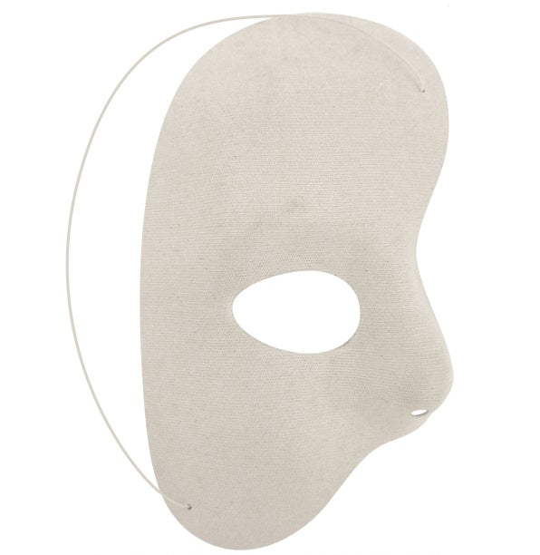 Adults Gothic White Half Face Mask Halloween Fancy Dress Accessory
