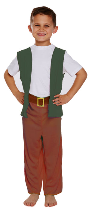 Children's Boys Friendly Giant Trousers with Belt & Waistcoat Fancy Dress Outfit