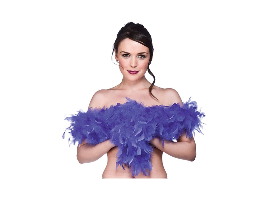 Wicked Blue Feather Boa Fancy Dress Accessory