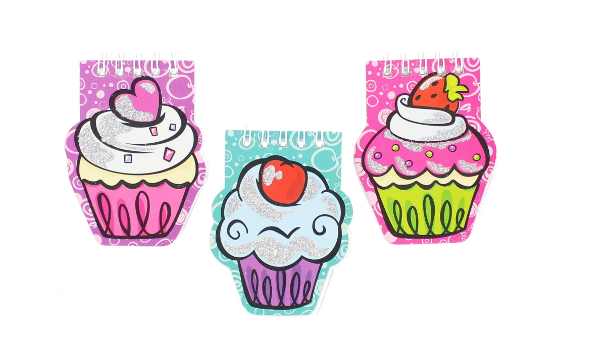 Children's Small Glitter Cupcake Notepad