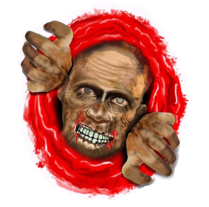 Halloween Spooky Zombie Toilet Decoration Party Accesssory