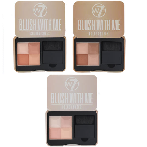W7 Blush With Me Colour Cubes Blusher Palette 8.5g