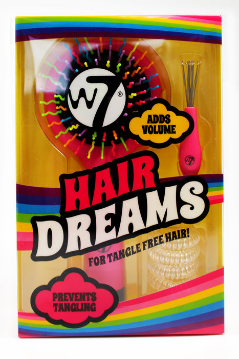 W7 Hair Dreams Tangle Free Hair Kit With Scrunchies, Hairbrush & Brush Cleaner