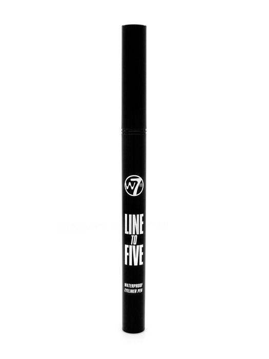W7 Line to Five Waterproof Eyeliner Felt Tip Pen-Black