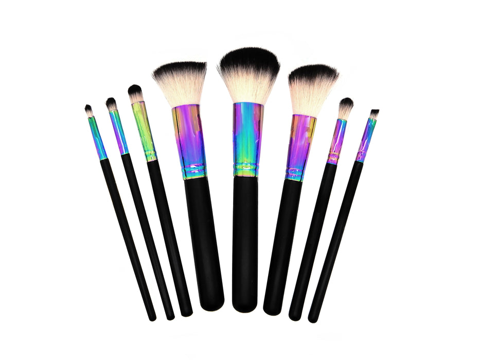 W7 8 Pce Professional Make Up Brush Set Kit Cosmetic Brushes Tool Powder Contour