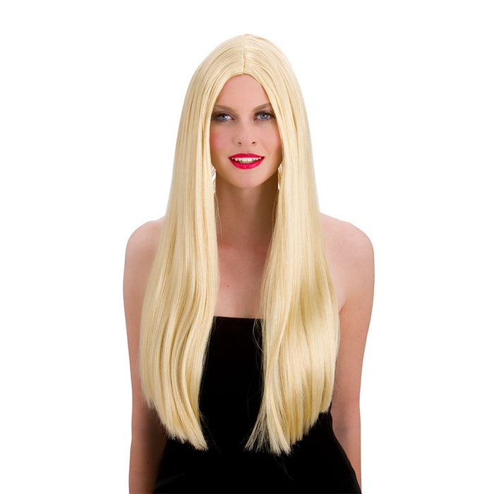 "Wicked Ladies Classic 24"" Long Straight Wig Fancy Dress Accessory-Blonde"