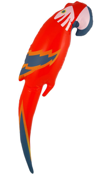 Novelty Inflatable/ Blow Up Parrot 48cm Tropical Pirate Fancy Dress Accessory
