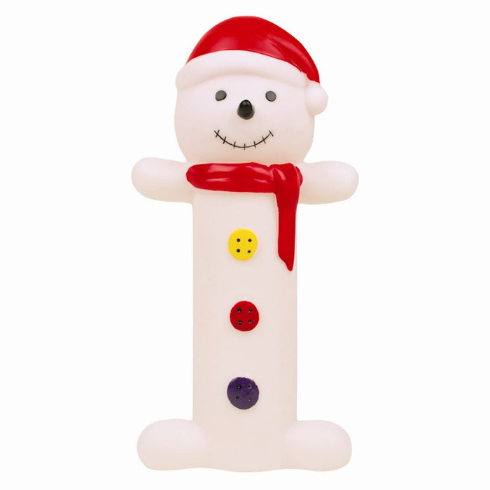 Novelty Squeaky Christmas Festive  Dog Toy 19cm-Snowman