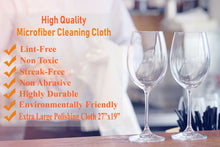 Microfiber Cleaning Cloth - Extra Large Polishing Cloth - Stemware, Windows, Jewelry Lint Free and Streak Free Microfiber Towel For Spotless Results