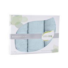 Life & Form Bamboo Washcloth Aquamarine in Gift Box
