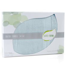 Life & Form Bamboo Bath Towel Aquamarine in Gift Box