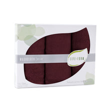 Life & Form Bamboo Washcloth Antique Red in Gift Box