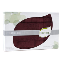 Life & Form Bamboo Towel Essential Set Antique Red in Gift Box