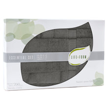 Life & Form Bamboo Towel Essential Set Olive Grey in Gift Box