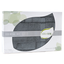 Life & Form Bamboo Towel Essential Set Vessel Grey in Gift Box