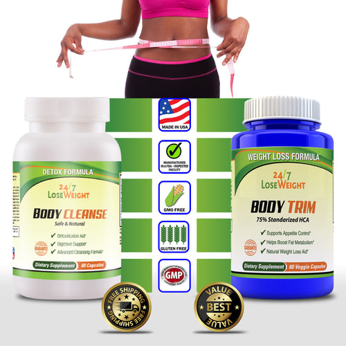 FULL SYSTEM 24 / 7 Lose Weight BODY CLEANSE AND BODY TRIM - Free Shipping