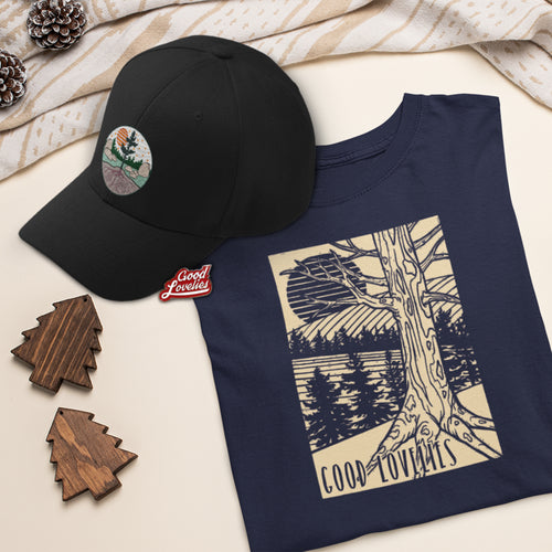 Tee + Ball Cap + Pin Bundle