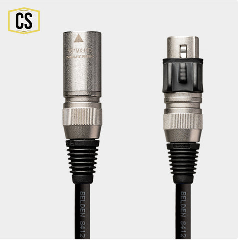 Black microphone cable