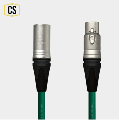 Green Mogami Microphone Cable