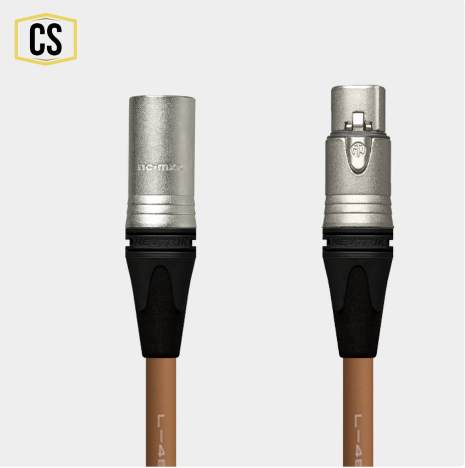 Brown Star Quad Microphone Cable