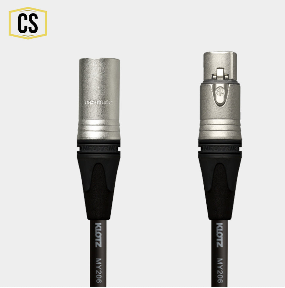 Black Klotz Microphone Cable