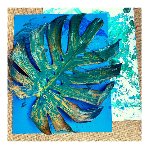 A beautiful example of monstera leaf print