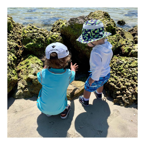 Kids by the shore
