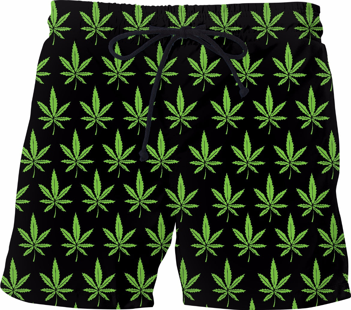 Weed Swim Shorts - Adult Swim Time