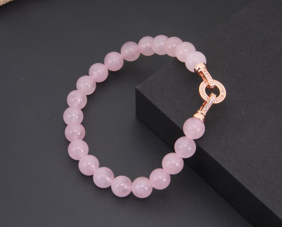 "Bracelet Quartz Rose ""Amour & Sentiments"""