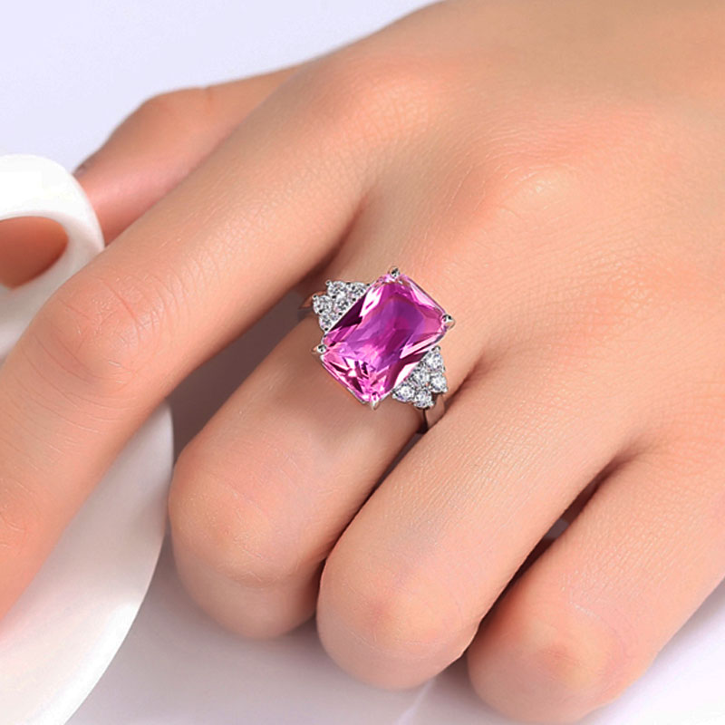 Bague Érine en Quartz Rose