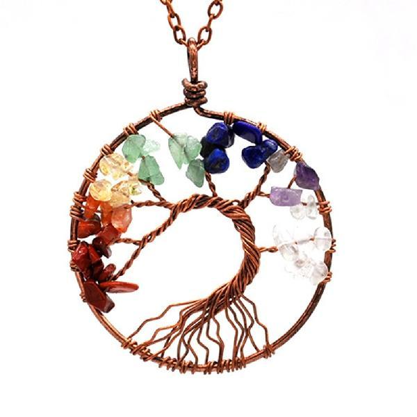 Collier Tree of life 7 chakras